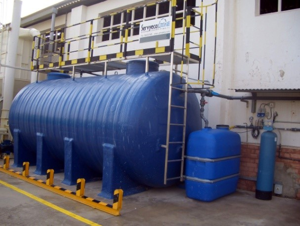 Biological water treatment compact plant